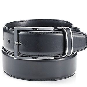 Alfani Dressy Black Leather Belt 32 MSRP $39.50